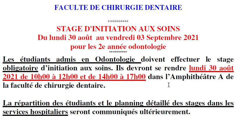 Stage soins infirmiers 21-22